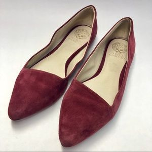 Vince Camuto Maroon Burgundy pointed toe flats